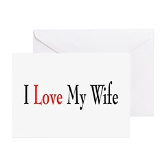 I Love my Wife Greeting Cards (Pk of 10)