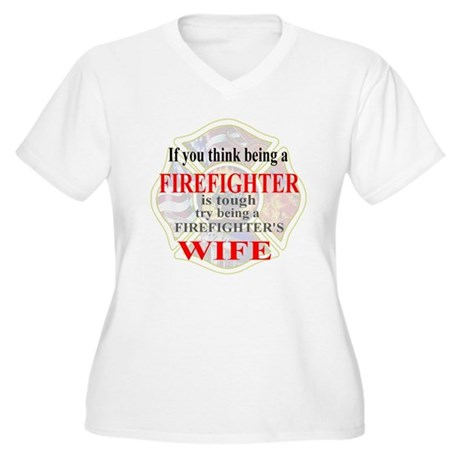 Firefighters Wife Women's Plus Size V-Neck T-Shirt
