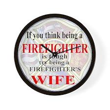 Firefighters Wife Wall Clock