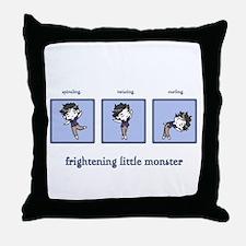 Frightening Little Monster Throw Pillow