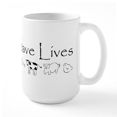 Vegans Save Lives Vegan Large Mug