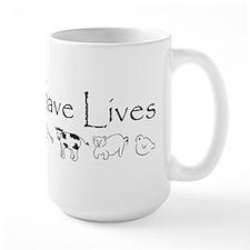 Vegans Save Lives Vegan Mug