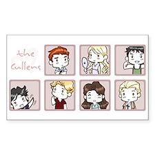 Cullens Rectangle Sticker 10 pk)