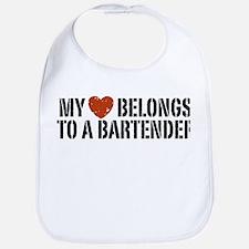 My Heart Belongs to a Bartender Bib