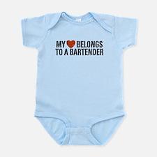 My Heart Belongs to a Bartender Infant Bodysuit