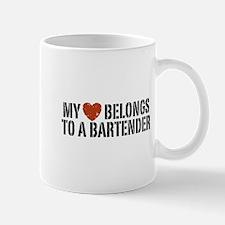 My Heart Belongs to a Bartender Mug