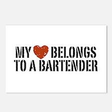 My Heart Belongs to a Bartender Postcards (Package