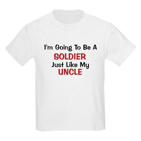 Soldier Uncle Profession Kids Light T-Shirt