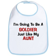 Solider Aunt Profession Bib
