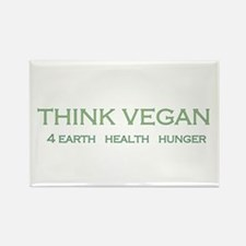 Think Vegan Rectangle Magnet