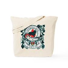 Vampire Dog Collie Tote Bag