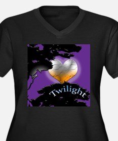 Twilight New Moon Women's Plus Size V-Neck Dark T-