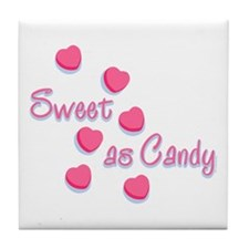 Sweet As Candy Valentine Tile Coaster