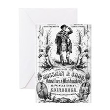 Cool Retro bagpipes Greeting Card
