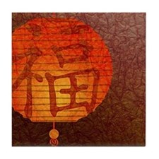 Paper Lantern Tile Coaster