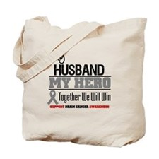 BrainCancerHero Husband Tote Bag