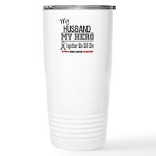 BrainCancerHero Husband Travel Mug