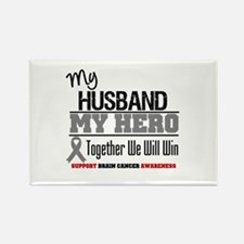 BrainCancerHero Husband Rectangle Magnet