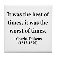 Charles Dickens 2 Tile Coaster