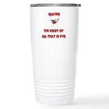 Gluten, The Root Of All Evil Travel Mug