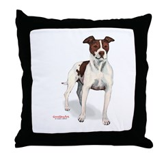 Pit Bull Alone Throw Pillow
