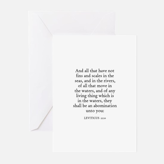 LEVITICUS  11:10 Greeting Cards (Pk of 10)