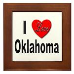I Love Oklahoma Framed Tile