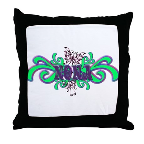 Nona's Butterfly Name Throw Pillow