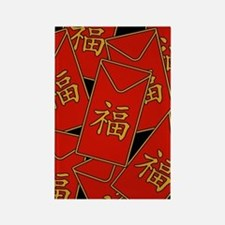 Red Envelopes Rectangle Magnet