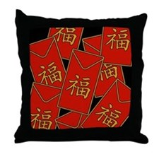 Red Envelopes Throw Pillow