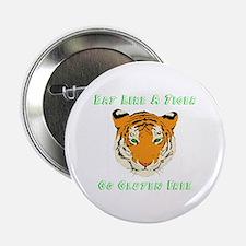 """Gluten Free Tiger 2.25"""" Button"""