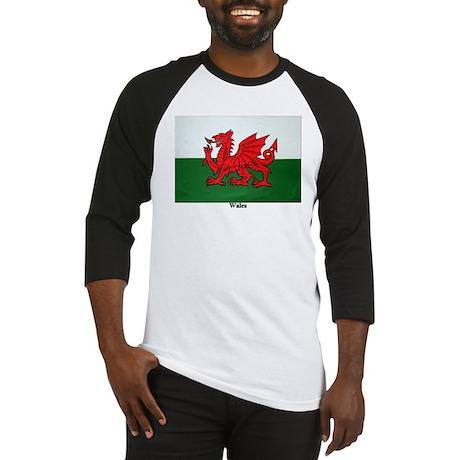 Wales Flag Baseball Jersey