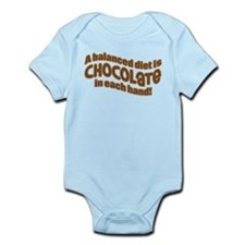 BALANCED CHOCOLATE DIET Infant Bodysuit