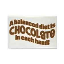 BALANCED CHOCOLATE DIET Rectangle Magnet (10 pack)