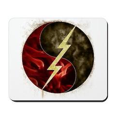 Lightning, Smoke and Flames! Mousepad