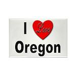 I Love Oregon Rectangle Magnet (10 pack)
