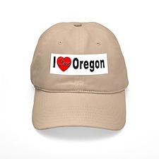 I Love Oregon Baseball Cap