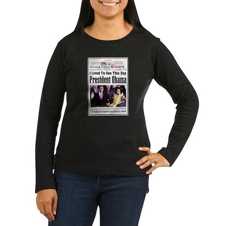 Inauguration Women's Long Sleeve Dark T-Shirt