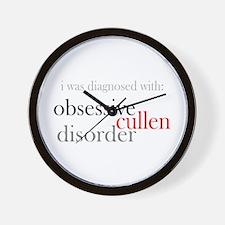 Obsessive Cullen Disorder Wall Clock