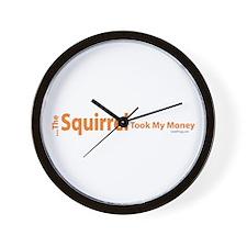 oddFrogg Squirrel Poker Wall Clock