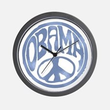 Obama - 60's Stamp Wall Clock
