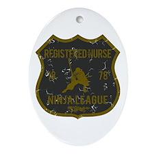 Registered Nurse Ninja League Oval Ornament