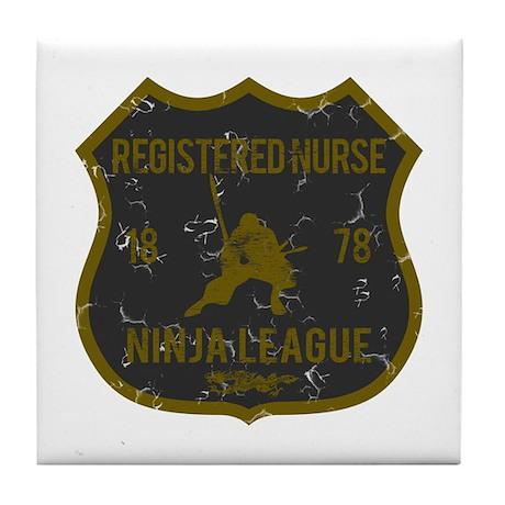 Registered Nurse Ninja League Tile Coaster