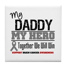 BrainCancerHero Daddy Tile Coaster