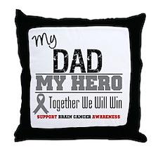 BrainCancerHero Dad Throw Pillow
