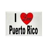 I Love Puerto Rico Rectangle Magnet (10 pack)