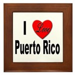 I Love Puerto Rico Framed Tile