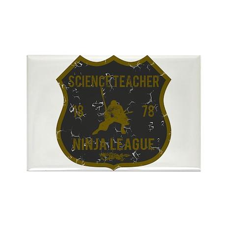 Science Teacher Ninja League Rectangle Magnet
