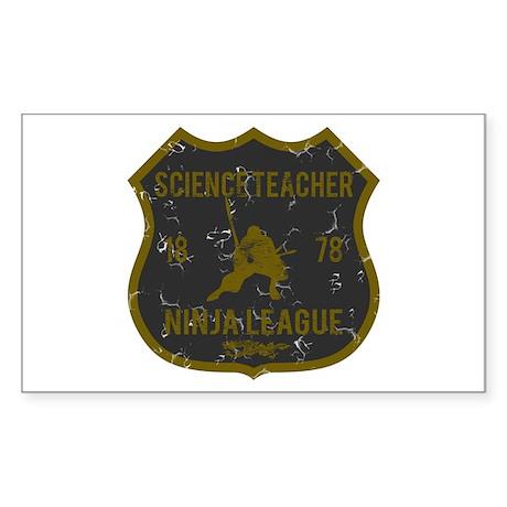 Science Teacher Ninja League Rectangle Sticker