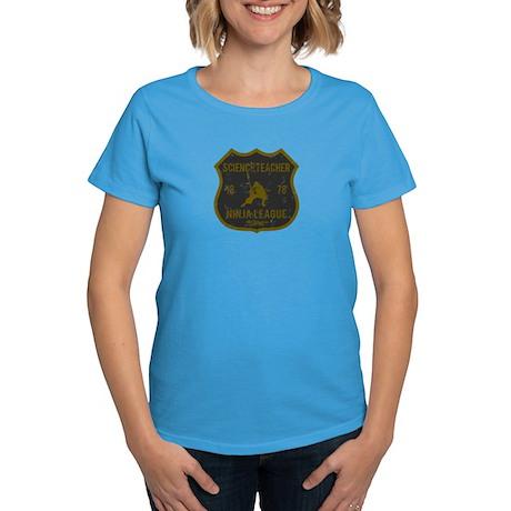 Science Teacher Ninja League Women's Dark T-Shirt